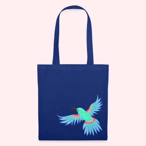 Kolibri mint blau - Stoffbeutel