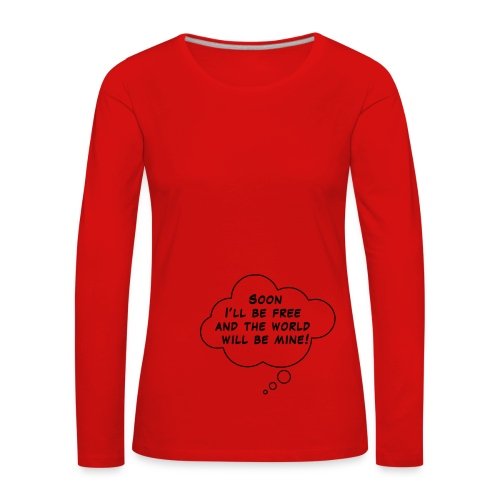 master of the world - T-shirt manches longues Premium Femme