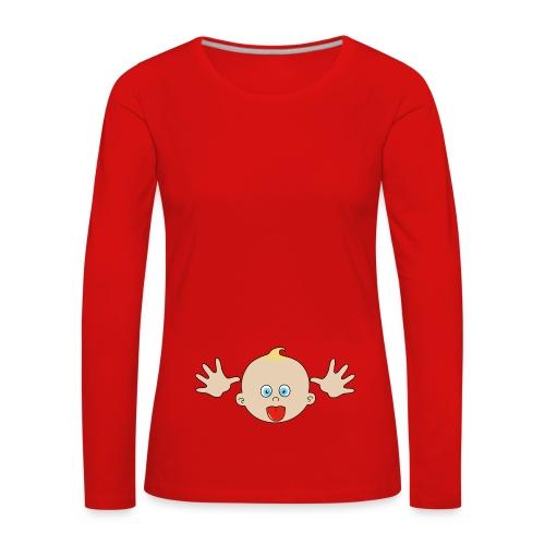 bébé grimace - T-shirt manches longues Premium Femme