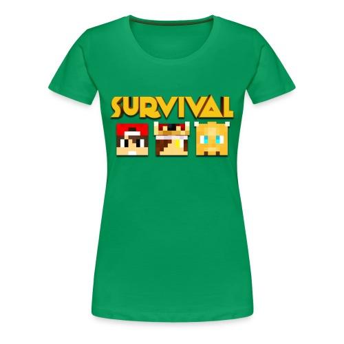 Minecraft Survival Shirt - Vrouwen Premium T-shirt