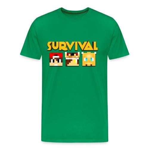 Minecraft Survival Shirt - Mannen Premium T-shirt