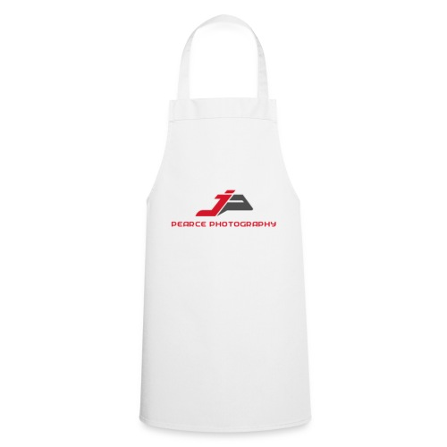 White Apron with Pearce Photography Logo - Cooking Apron