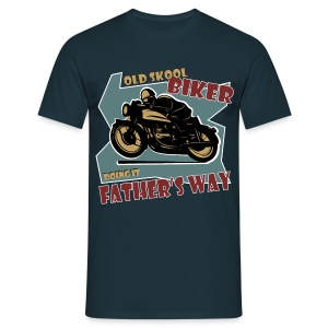 Old Skool - Fathers Way - Men's T-Shirt
