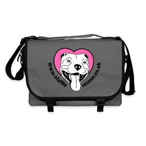 Staffie Rescue messenger bag (graphite) - Shoulder Bag