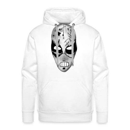 Masken-Hoody weiß - Männer Premium Hoodie