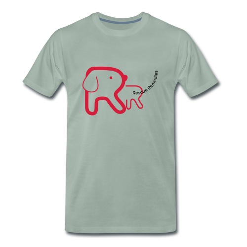 Rescue Remedies men's premium t-shirt (steel green) - Men's Premium T-Shirt