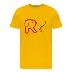 Rescue Remedies men's premium t-shirt (sun yellow) - Men's Premium T-Shirt