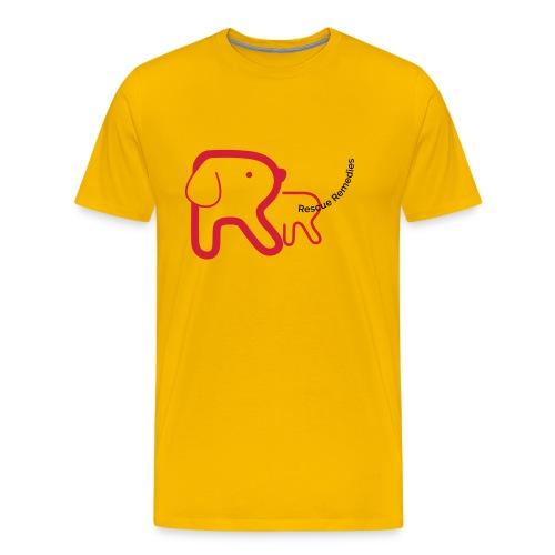 Rescue Remedies men's premium t-shirt (sun yellow) - Men's Premium T-Shirt