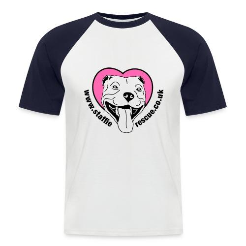 Staffie Rescue baseball t-shirt - Men's Baseball T-Shirt