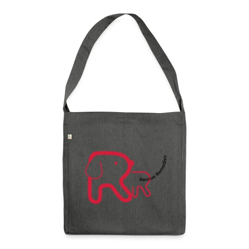 Rescue Remedies shoulder bag (dark grey heather) - Shoulder Bag made from recycled material