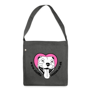 Staffie Rescue shoulder bag (dark grey heather) - Shoulder Bag made from recycled material