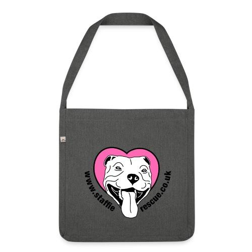 Staffie Rescue shoulder bag (dark grey heather) - Shoulder Bag made from recycled material