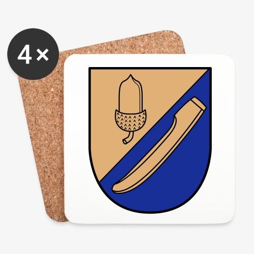 Wappen - 4x Kork Untersetzer - Untersetzer (4er-Set)