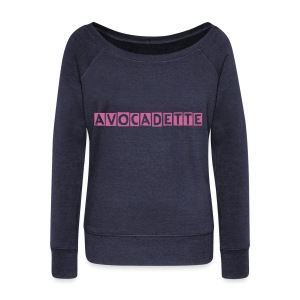 Avocadette Yoga Sweatshirt - Women's Boat Neck Long Sleeve Top