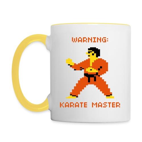Karate - Tasse - Tasse zweifarbig