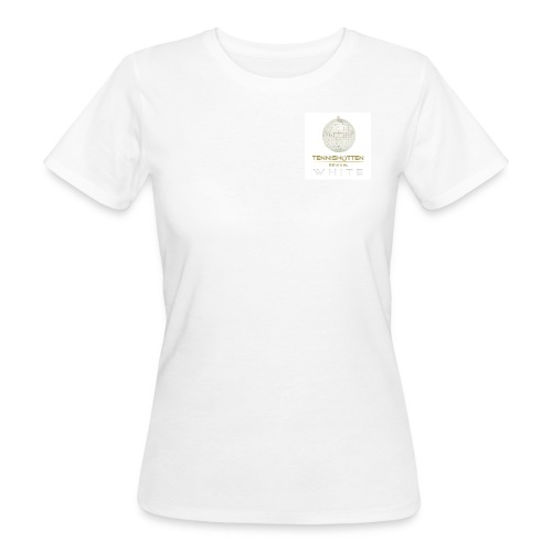 Tennishütten Revival White - Frauen Bio-T-Shirt