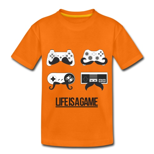 Teenagers Life Is A Game T-Shirt - Teenage Premium T-Shirt