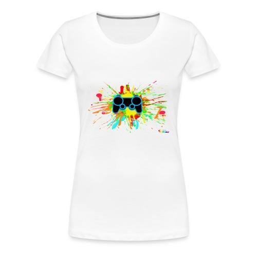 Women's Splatter Controller Shirt - Women's Premium T-Shirt