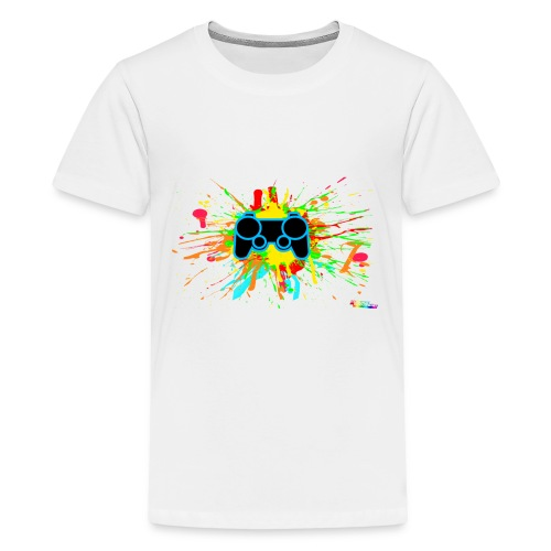 Teenager's Splatter Controller Shirt - Teenage Premium T-Shirt