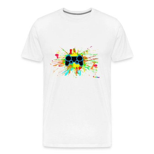 Men's Splatter Controller Shirt - Men's Premium T-Shirt