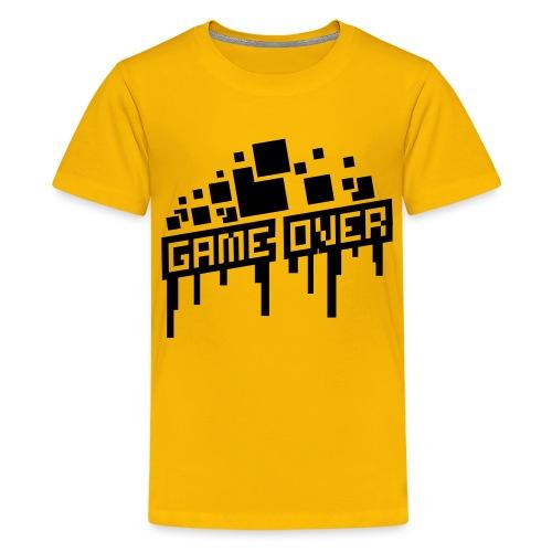 Teenager's Game Over Shirt - Teenage Premium T-Shirt