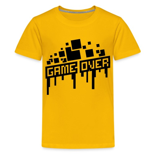 Teenager's Game Over Shirt - Teenage Premium T-Shirt