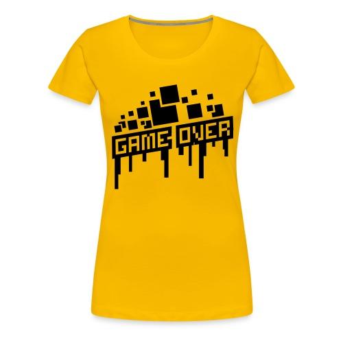 Women's Game Over Shirt - Women's Premium T-Shirt