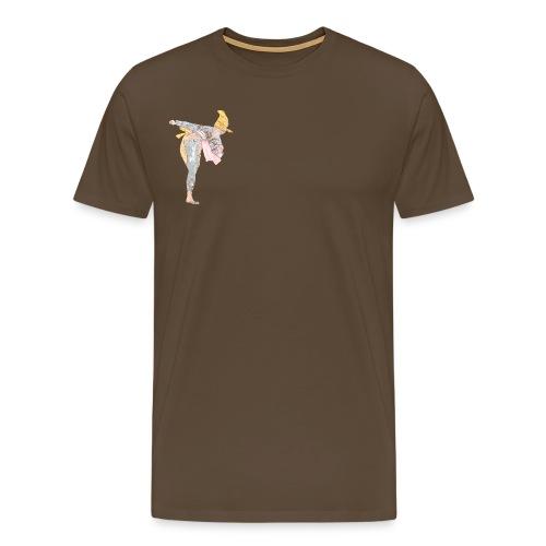 Silat Kick Front Back - Camiseta premium hombre