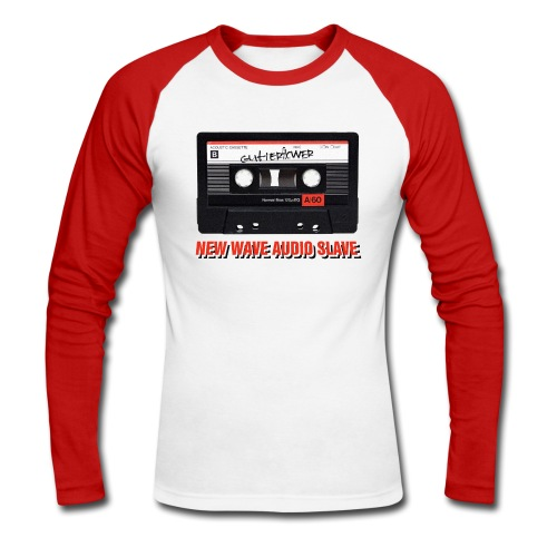 Gutterflower - New Wave Men's Baseball Shirt - Men's Long Sleeve Baseball T-Shirt
