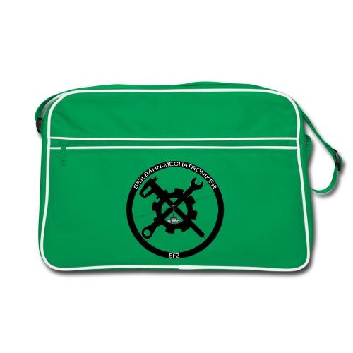 Umhänge Tasche mit rundem Logo - Retro Tasche