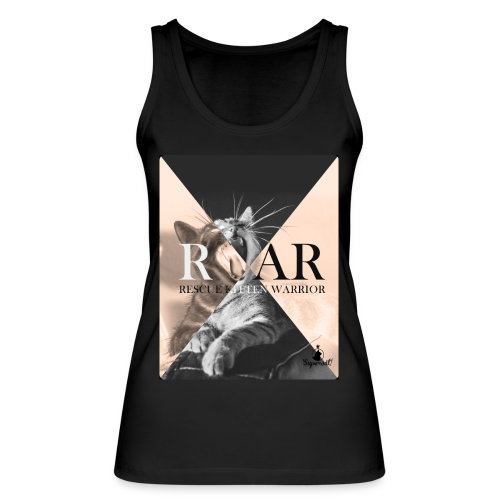 Rescue Kitten Warrior Black (Female Tank Top) - Vrouwen bio tanktop van Stanley & Stella