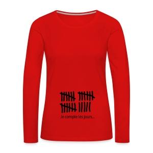 compte jours - T-shirt manches longues Premium Femme