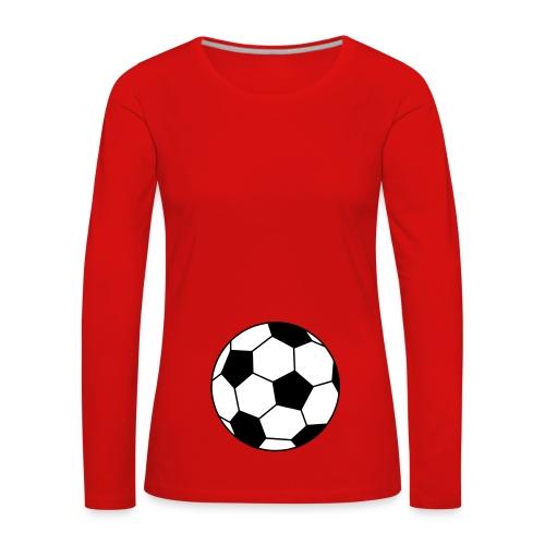 futur footballeur - T-shirt manches longues Premium Femme