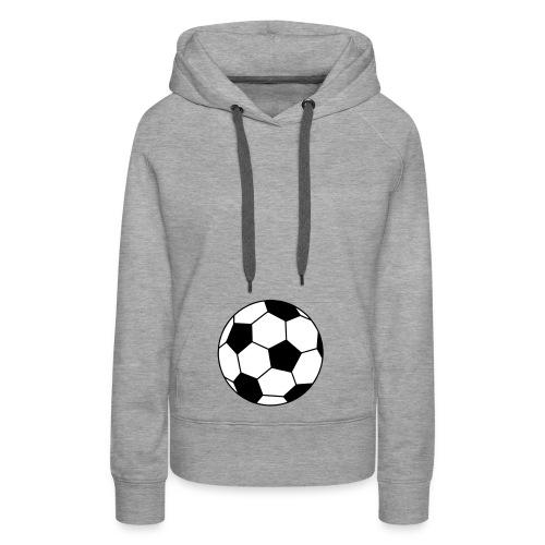 futur footballeur - Sweat-shirt à capuche Premium pour femmes