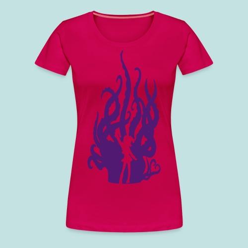 Fuzzy Purple Hentacles. - Women's Premium T-Shirt