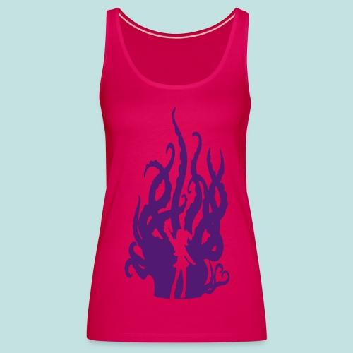 Fuzzy Purple Hentacles. (Skinny Vest) - Women's Premium Tank Top