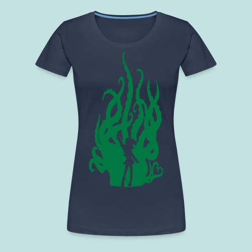 Sparkly Green Hentacles (Skinny Fitted) - Women's Premium T-Shirt