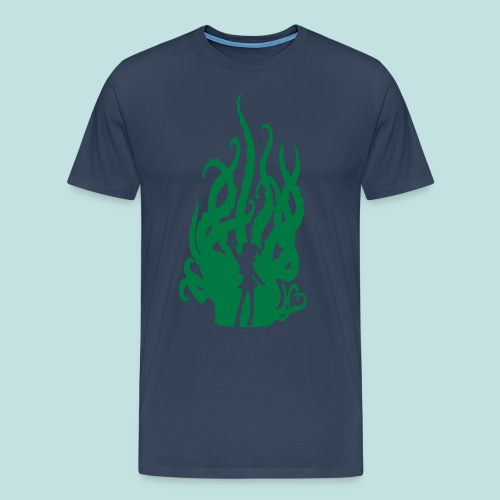 Sparkly Green Hentacles (Wide Shoulders) - Men's Premium T-Shirt