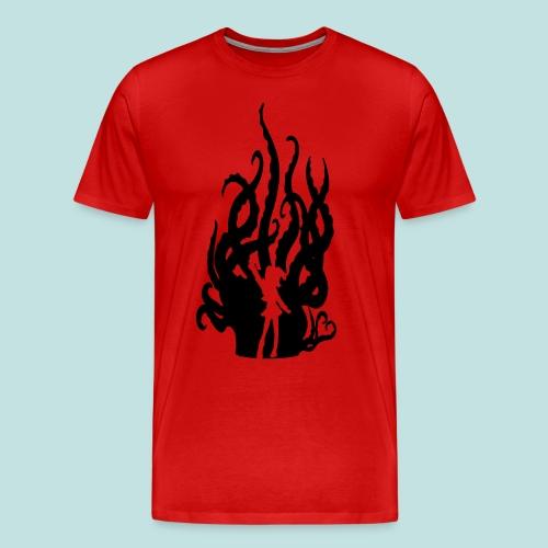 Fuzzy Black Hentacles (Wide Shoulders) - Men's Premium T-Shirt
