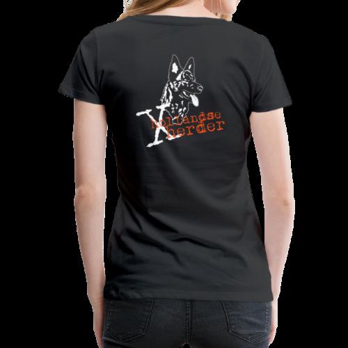 T-Shirt women, digitaler Direktdruck hinten, X-Hollandse Herder - Frauen Premium T-Shirt