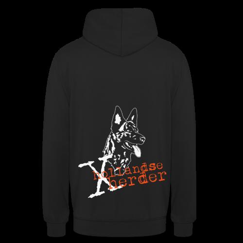 Hoodie unisex, digitaler Direktdruck hinten, X-Hollandse Herder - Unisex Hoodie