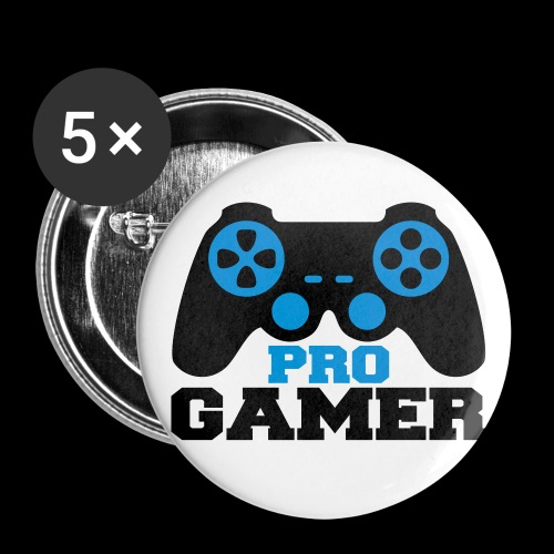 pro gamer badge - Buttons medium 32 mm