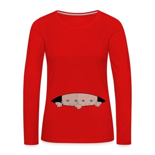 bébés jumeaux - T-shirt manches longues Premium Femme