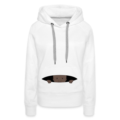 bébé noir curieux - Sweat-shirt à capuche Premium pour femmes