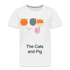 The cats and Pig - Kids' Premium T-Shirt
