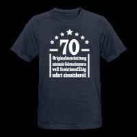 70. Geburtstag Eigenschaften Funktionsshirt
