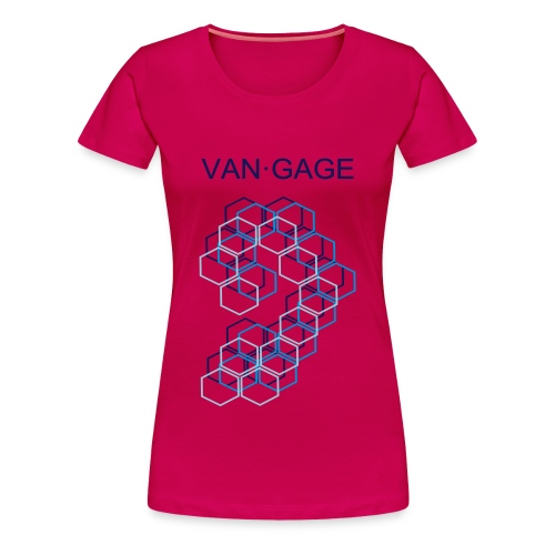 VAN•GAGE | CUBESblue | premium female - Frauen Premium T-Shirt