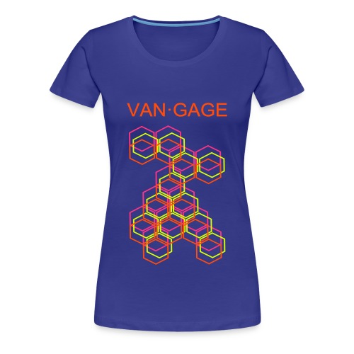 VAN•GAGE | CUBESneon | premium female - Frauen Premium T-Shirt