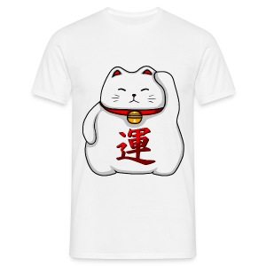 Kawaii Lucky Cat Men's Tshirt - Men's T-Shirt