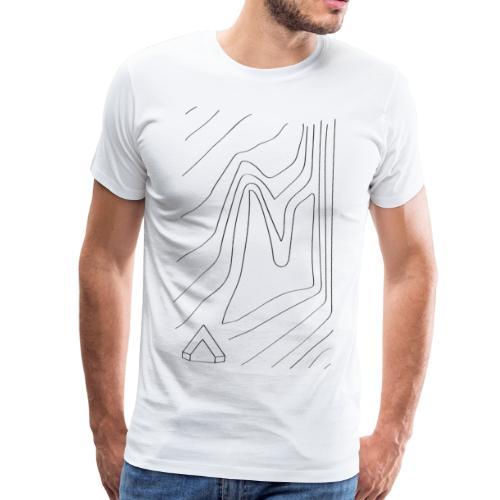 Männer Shirt Topographie I weiß - Männer Premium T-Shirt